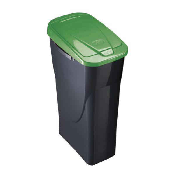 Cubo Ecobin 25 l. tapa verde
