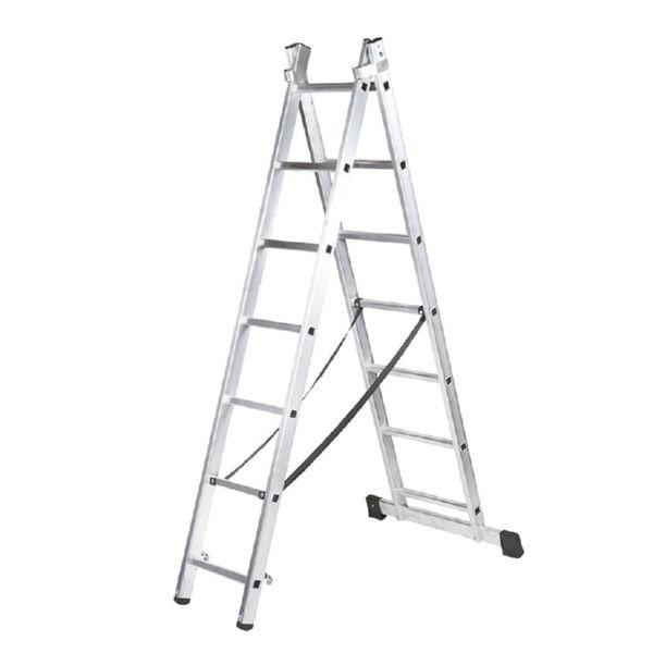 Escalera transformable aluminio 2x7 peldanos