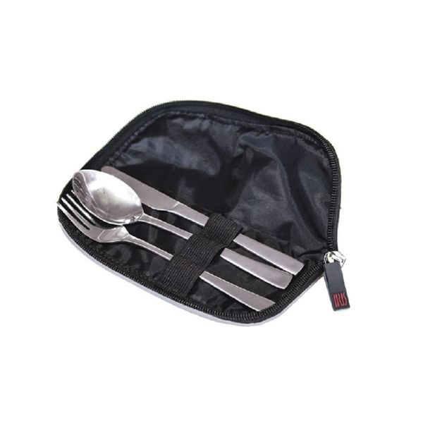 Set cubiertos inox con funda display