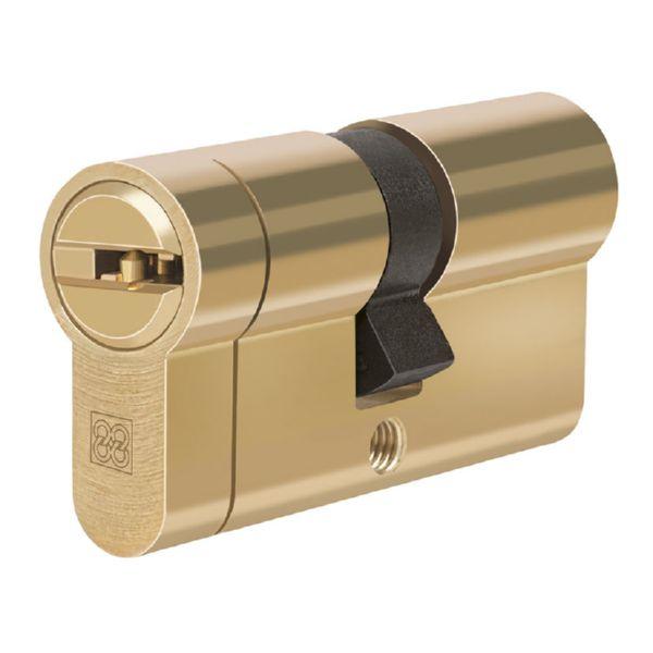 Cilindro de seguridad Mod. MPRO. Laton.. 35x35 mm.